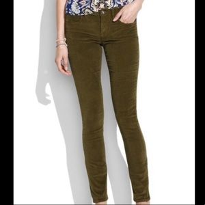 Madewell Forest Green Corduroy Pants
